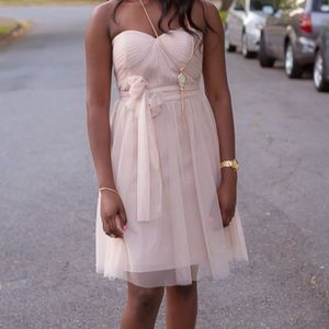 Soft Pink Flowy PROM Dress